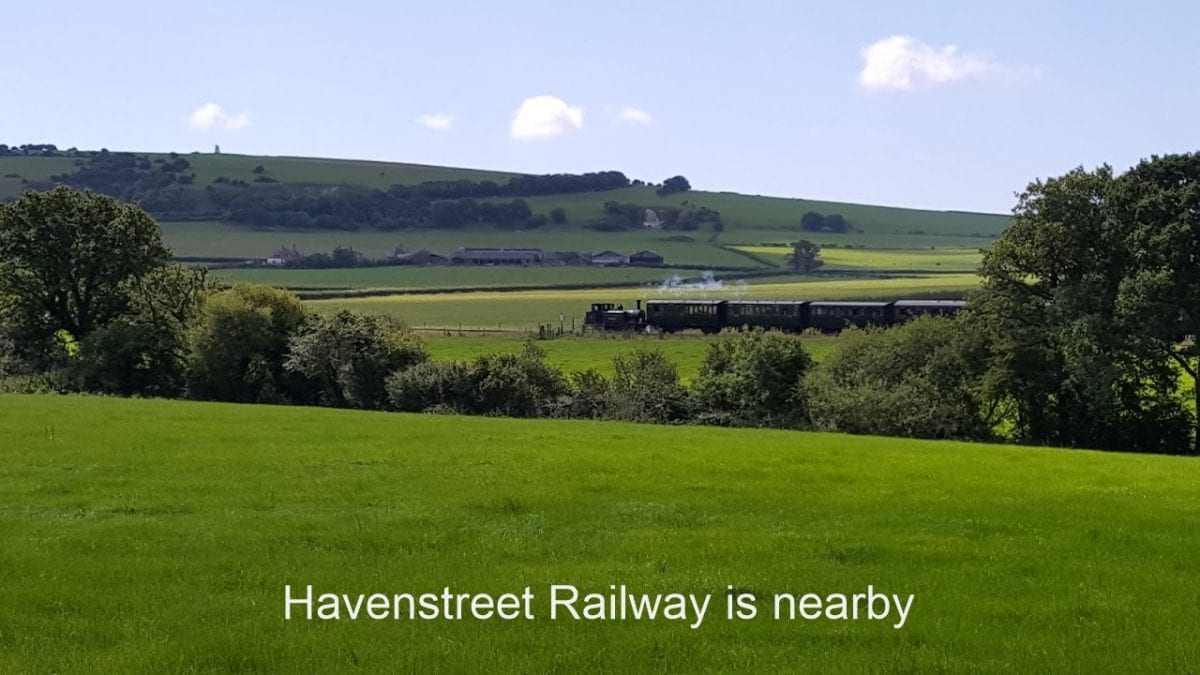 Train in fields