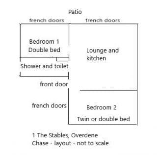 Cottage 1 Floor Plan